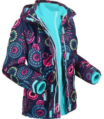giacca tecnica outdoor 3 in 1 con cappuccio (blu) - bpc bonprix collection
