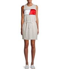 tommy hilfiger sport women's colorblock tank dress - grey - size xl