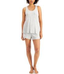 alfani women's tank & shorts pajama set, created for macy's