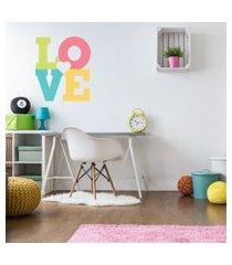 adesivo de parede quartinhos para quarto love rosa