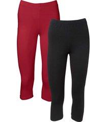 leggings a pinocchietto (pacco da 2) (rosso) - bodyflirt