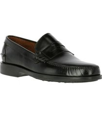mocasin cuero harvard negro hush puppies
