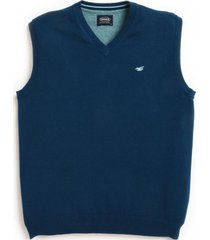 sweater sin mangas business azul ferouch