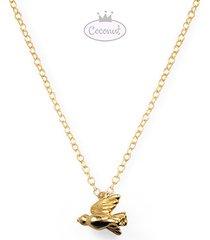 gołąbek - złocony wisiorek naszyjnik