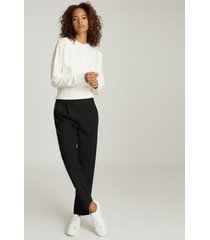 reiss bridgette - sweatshirt with seam detailing in white, womens, size xl