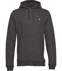 pullover hoodie hoodie trui grijs lyle & scott