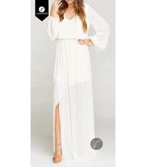 *vestidos para mujer limonni bennett li1228 maxidress