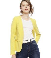 blazer io amarillo - calce regular