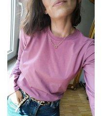 bluzka malmo crew neck lilac longsleeve
