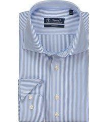 sleeve7 overhemd lichtblauw penstripe poplin