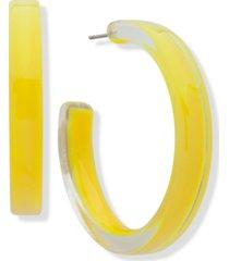 """dkny medium resin hoop earrings, 1.6"""""""