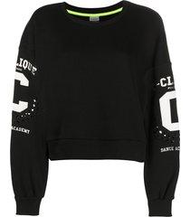 pinko dance academy casual sweatshirt - black