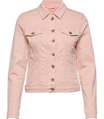 rikkacr jogg denim jacket jeansjack denimjack roze cream