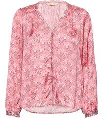 harper blouse blus långärmad rosa odd molly