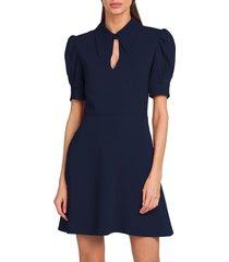 stella mccartney women's blair puff-sleeve dress - sapphire - size 40 (6)
