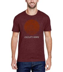 men's premium blend word art occupy mars t-shirt