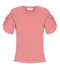t-shirt feminina nó - rosa