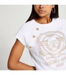 river island womens white short sleeve chelsea t-shirt