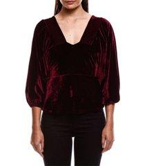 colcci deep love velvet blouse