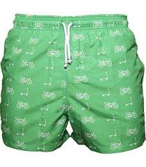 pantaloneta de baño verde regata beachwear bogota