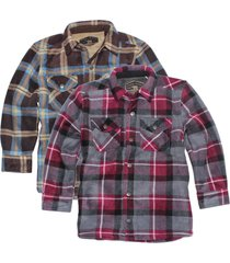 freedom foundry boy's faux fur lined plush flannel shirt