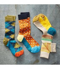 party mix socks, set of 3
