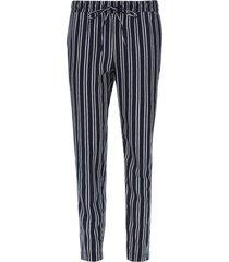 pantalón con cordon doble raya color azul, talla 10