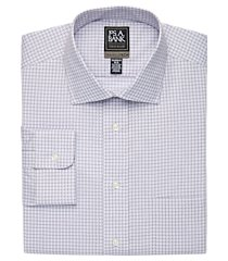 travel tech collection tailored fit spread collar grid shirt - big & tall clearance, by jos. a. bank