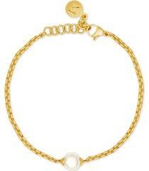majorica gold-tone imitation pearl bracelet