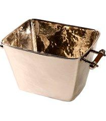champanheira de metal média com alça de chifre