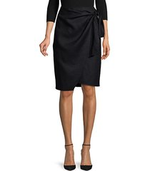 tie-front linen skirt