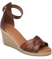 espadrilles 2666 sandalette med klack espadrilles brun billi bi