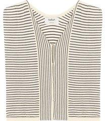 ba&sh lony short sleeve vest gestreept
