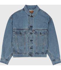 chaqueta azul levis