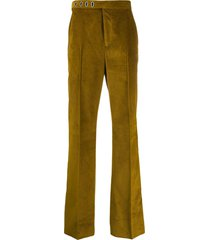 acne studios tailored corduroy trousers - yellow