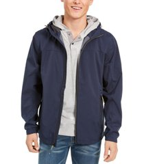 hawke & co. men's all-season lightweight stretch hooded rain jacket