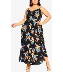 city chic trendy plus size grenada maxi dress