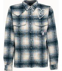billionaire boys club camicia misto lana