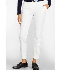 pantalon flat-front chino blanco brooks brothers