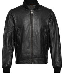 leather jckt black leren jack leren jas zwart timberland