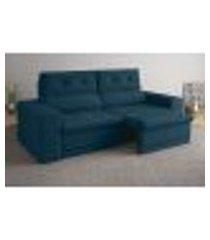 sofá 3 lugares net gaia assento retrátil e reclinável royal 2,01m (l)