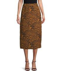pure navy women's zebra-print slip skirt - zebra - size s