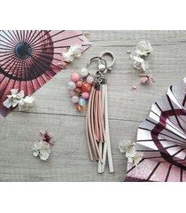 brelok / zawieszka do torebki cherry blossom
