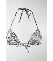 isabel marant ethnic print bikini top