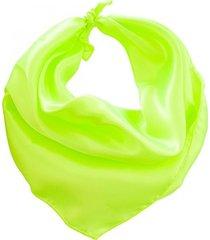 pañuelo verde bohemia liso fluo