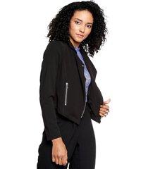 chaqueta negra active