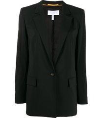 escada sport deep v-neck blazer - black