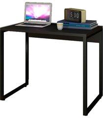 escrivaninha mesa de escritã³rio studio industrial 90 m18 preto – mpozenato - preto - dafiti