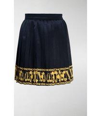versace chain trim pleated skirt