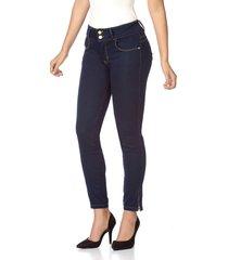jean skinny azul oscuro